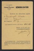 GROUPEMENT DES ETUDIANTS MILITAIRES * WOI * DEMOBILISATION * ALLOCATIONS A LANDUYDT CHARLES * SERGANT * 1919 * - Documentos