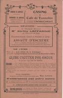 TONNEINS CASINO DU CAFE CINEMA CONCERT A BRIGNOL PROGRAMME ANNEE 1920 SUR LA SCENE BERTHY LAFFARGUE COMIQUE MAX LINDER - Non Classificati