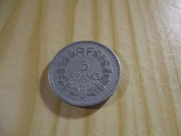 France - 5 Francs Lavrillier 1946 Alu.N°1711. - J. 5 Francs