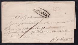 Italy - Undated Wrapper - Catania To Palermo - 1. ...-1850 Prephilately