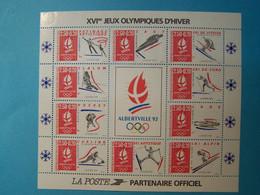 France - 1992 - Bloc Feuillet - YT N° BF 14 - Jeux Olympiques Albertville - Neufs ** Sans Charnière - Ungebraucht