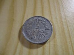 France - 5 Francs Lavrillier 1949 B Alu.N°1713. - J. 5 Francs