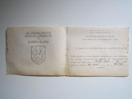 INVITATION 65e DIVISION MILITAIRE CENTRE DE DOCUMENTATION ET D'ACCUEIL DU DOUBS Le Chef De Bataillon BOULZE - Documentos
