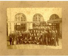 ECOLE POLYTECHNIQUE  PHOTOGRAPHE A GERSCHEL GROUPE D ETUDIANTS  PHOTO XIX° COLLE SUR UN SUPPORT CARTONNE  MILITARIA - War, Military