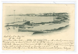 Carte De La Rade De Dakar Oblitération De St Louis Du Sénégal 1901 - 1921-1960: Periodo Moderno