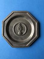 CENDRIER Ou VIDE POCHE EN ETAIN DE BRIARE - FLAMME GENDARMERIE - Metal