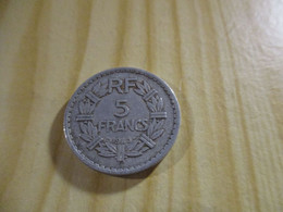 France - 5 Francs Lavrillier 1945 Alu.N°1719. - J. 5 Francs