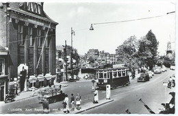 Leiden Blauwe Tram Tramway Kort Rapenburg Strassenbahn Trolley Stadstram Oegstgeest Autos NZH 1960's - Leiden