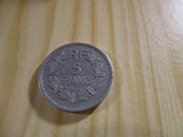 France - 5 Francs Lavrillier 1945 Alu.N°1724. - J. 5 Francs