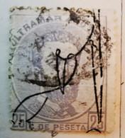 Puerto-Rico - Colonies Espagnoles - 1875- Y&T N°1 - 25 C. Gris-violet -  /0/ - Porto Rico