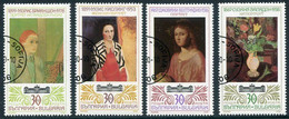 BULGARIA 1990 Foreign Paintings Used.  Michel 3821-24 - Gebraucht