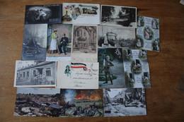 15 Cartes Postales Anciennes Allemandes Guerre 1914 1918 - Guerra 1914-18