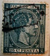 Puerto-Rico - Colonies Espagnoles - 1878- Y&T N°20 - 25 C. Vert -  /0/ - Porto Rico