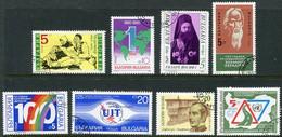 BULGARIA 1990 Eight Single Commemorative Issues  Used. - Gebraucht