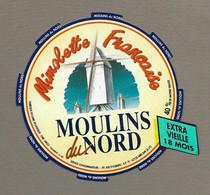 ETIQUETTE De FROMAGE.. MIMOLETTE Français En LOIRE ATLANTIQUE.. Moulin Du Nord - Formaggio