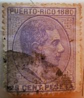 Puerto-Rico - Colonies Espagnoles - 1880- Y&T N°38 - 25 C. Bleu-lilas-  /0/ - Porto Rico