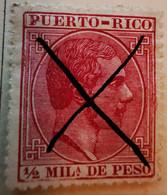 Puerto-Rico - Colonies Espagnoles - 1882-84- Y&T N°55 - 1/2 M. Carmin -  Annulé - Porto Rico