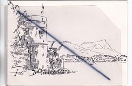 Toulon (83) Carte Double .Dessin D'une Vue Sur Le Port. Voeux Du Conseiller Général ,député Du Var.... - Toulon