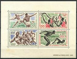 République Centrafricaine 1964 Mi. Bl. 2 Bloc Feuillet 100% Neuf ** Jeux Olympiques, Tokyo. - República Centroafricana