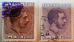 Puerto-Rico - Colonies Espagnoles - 1882-84- Y&T N°64 Et N°65 /0/ - Porto Rico