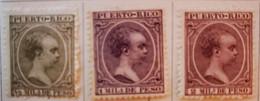 Puerto-Rico - Colonies Espagnoles - 1891-92 - Y&T N°86, N°87, N° 88 Et N°93 /*/ - Porto Rico