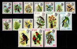 Fidji 1971 Mi. 276-291 Neuf ** 100% Oiseaux, Fleurs - Fiji (1970-...)