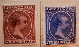 Puerto-Rico - Colonies Espagnoles - 1894- Y&T N°102, N°103, N°105 Et N°109 /*/ - Porto Rico