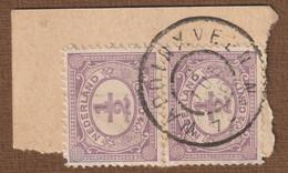 Nederland 1899  NVPH  Nr. 50  Paar  Stempel Waddinxveen  2-jun-'06 - Usados