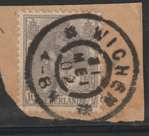 Nederland 1899  NVPH Nr.   62  Used   Stempel Wichen - Usati