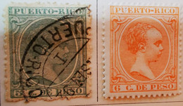 Puerto-Rico - Colonies Espagnoles - 1894- Y&T N°110, N°111, Et N°113 /*/ Et /0/ - Porto Rico