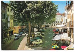 83 - BRIGNOLES - La Place Du Carami - Ed. GAI-SOLEIL N° 853  - Renault R4 4L Citroën 2cv Fourgonnette Nice Matin - Brignoles