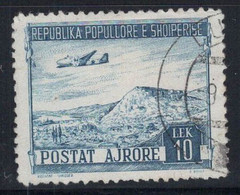 Albanie 1950 Mi. 493 Oblitéré 100% Poste Aérienne 10 L - Albania