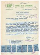 1961 YUGOSLAVIA,CROATIA,SPLIT,HOTEL PARK,LETTERHEAD,7 STATE REVENUE STAMPS - Covers & Documents