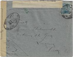 Postes Militaires Belgique Legerposterij 1918 Censure 159 Controle Postal Militaire Ouvert Par Autororité 418 - Belgisch Leger