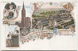 STRASSBURG 1895 Litho Industrie- Und Gewerbeausstellung - Strasbourg