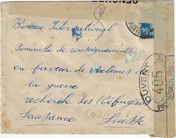 Postes Militaires Belgique Legerposterij 1917 Censure 159 Controle Postal Militaire Ouvert Par L' Autorité Militaire 405 - Belgisch Leger