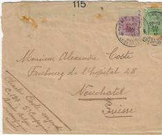 Postes Militaires Belgique Legerposterij 1917 Censure Militaire 115  Cachet Neuchatel Suise - Belgisch Leger