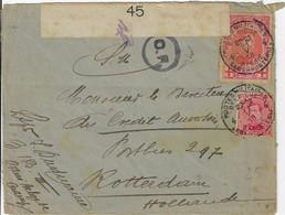 Postes Militaires Belgique Legerposterij 1918  Censure Militaire 45  Cachet Rotterdam Zegel 10 C Rode Kruis Timbre - Belgisch Leger