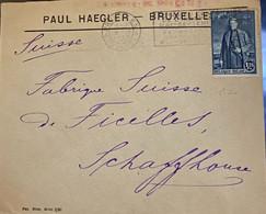 Enveloppe Uit 1930 Van Paul Haegler - Cartas