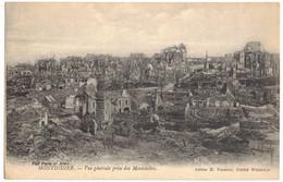MILITARIA GUERRE 14/18 MONTDIDIER SOMME VUE GENERALE PRISE DES MONTELETTES APRES BOMBARDEMENTS ALLEMANDS Ed VASSEUR 4083 - Guerra 1914-18