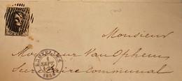 Zegel Nr 11 Op Enveloppe Uit 1856 - Cartas