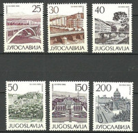 YUGOSLAVIA 1965 YVERT 1006/11 ** - Unused Stamps