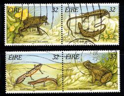 Irlande 1995 Mi. 909-912 Oblitéré 100% Reptiles, Lézard - Usados