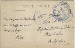 Postes Militaires Belgique Legerposterij Stempel Cachet St Jean Ferrat CPA Côte D'Azur Cap Ferrat Villa De S.M. Léopold - Belgisch Leger