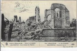 Postes Militaires Belgique Legerposterij Stempel Cachet 1917 Guerre 1914-15-16 Dans La Somme Maurepas Les Ruines De L'Eg - Belgisch Leger