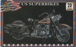 REINO UNIDO. MOTO - MOTORCYCLE. HARLEY DAVIDSON 1950 FL. US SUPERBIKES. UNI-Bike-0236. (798) - Moto