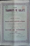 TRAMWAYS De GALATZ / GALATI 1900 Deco - Ferrocarril & Tranvías