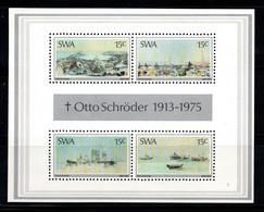 Afrique Du Sud-Ouest 1975 Mi. Bl. 1 Bloc Feuillet 100% Neuf ** Peintures Rupestres, Art - Cuadernillos/libretas