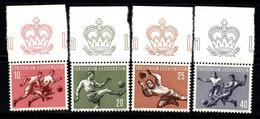 Liechtenstein 1954 Mi. 322-325 Neuf * 100% Football, Coupe Du Monde - Unused Stamps