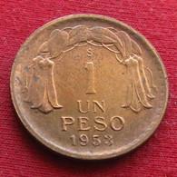 Chile 1 Peso 1953 - Chili